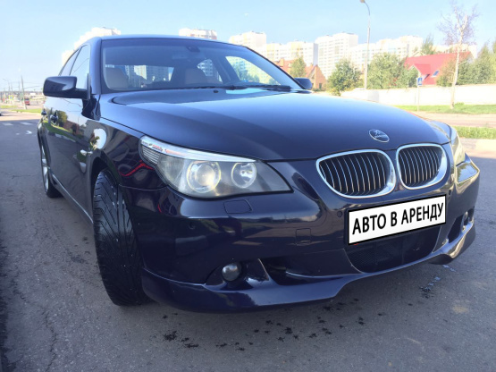 Прокат и аренда БМВ 525 недорого в Москве на сайте auto-v-arendu.ru - дополнительное фото авто